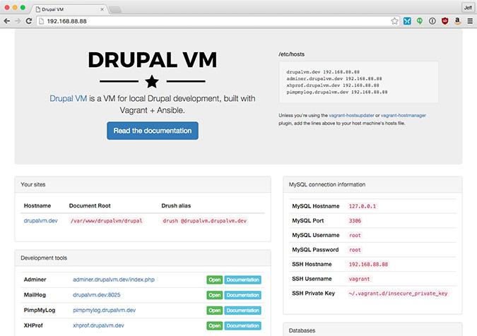Drupal VM - Easy local Drupal development environments