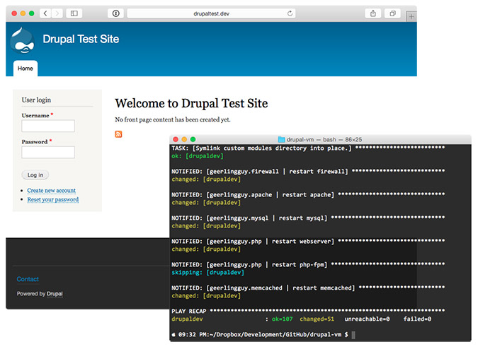 Drupal VM - Setup and Test Site